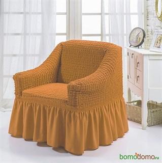 MUSTARD Чехол для кресла от 70 до 120 см горчичный