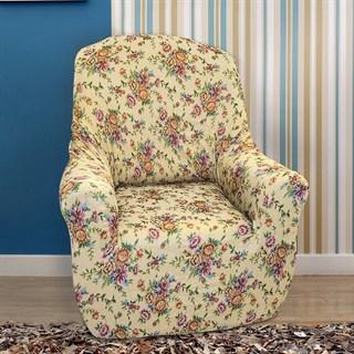 КРЕТОНА БЕЖ Чехол на кресло от 70 до 110 см