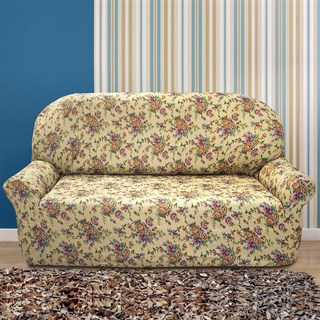 КРЕТОНА БЕЖ Чехол на 3-х местный диван от 170 до 230 см