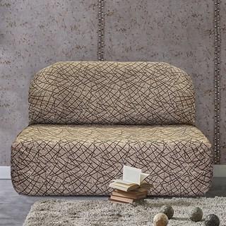 ГРЕЦИЯ БЕЖ Чехол на диван без подлокотников от 160 до 210 см