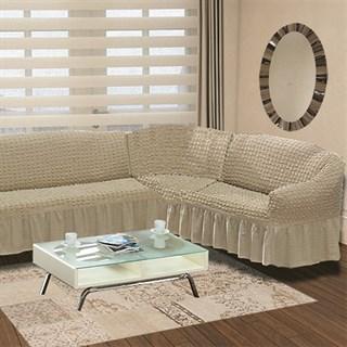 COFFEE Чехол на классический угловой диван от 350 до 470 см правосторонний капуччино