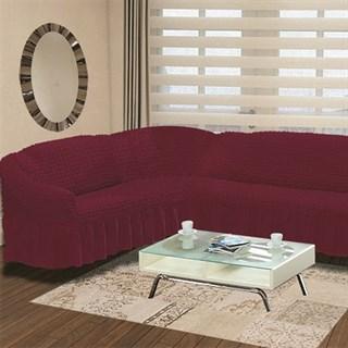 BORDO Чехол на классический угловой диван от 350 до 470 см левосторонний бордовый