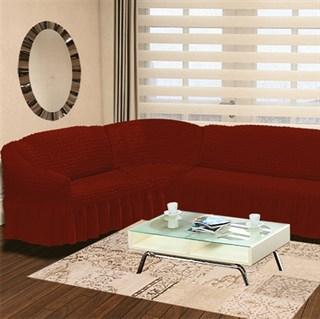 TERRACOTA Чехол на классический угловой диван от 350 до 470 см левосторонний кирпичный