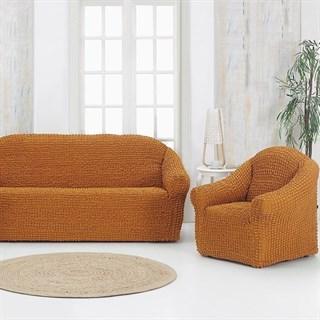 MUSTARD Комплект чехлов на диван и 2 кресла горчичный