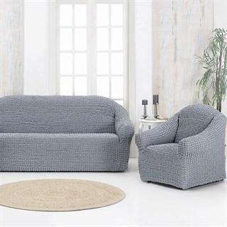 GREY Комплект чехлов на диван и 2 кресла серый