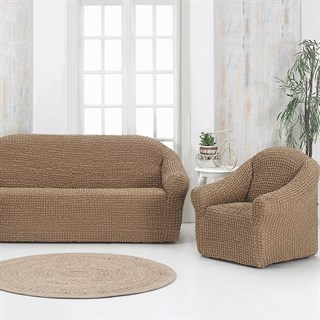 COFFEE Комплект чехлов на диван и 2 кресла капуччино