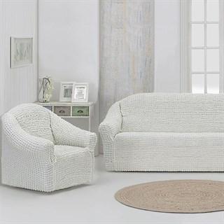 CREAM Комплект чехлов на диван и 2 кресла молочный
