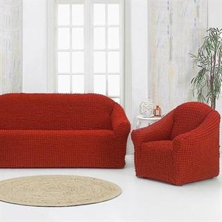 TERRACOTA Комплект чехлов на диван и 2 кресла кирпичный
