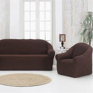 BRAUN Комплект чехлов на диван и 2 кресла коричневый
