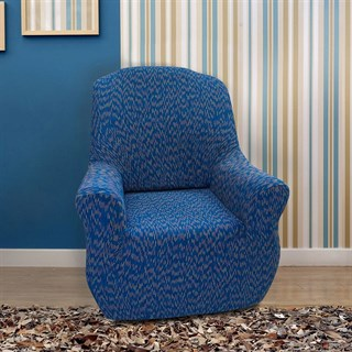 НЬЮ-ЙОРК ФЭШН БЛУ Чехол на кресло от 70 до 110 см