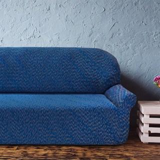 НЬЮ-ЙОРК ФЭШН БЛУ Чехол на 6-ти местный диван от 460 до 580 см