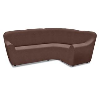 Чехол на угловой диван Нью-Йорк чоколато универсальный
