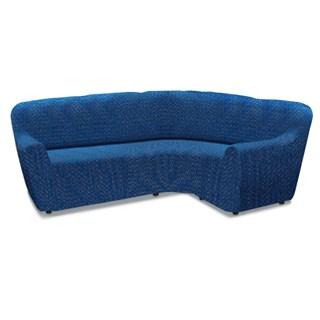 НЬЮ-ЙОРК ФЭШН БЛУ Универсальный чехол на угловой диван от 450 до 580 см