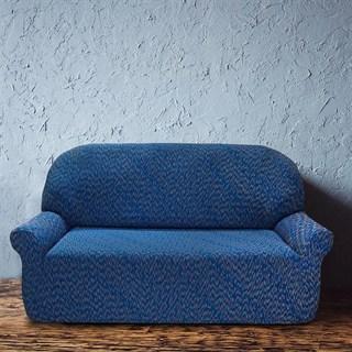 НЬЮ-ЙОРК ФЭШН БЛУ Чехол на 3-х местный диван от 170 до 230 см