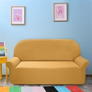 НЬЮ-ЙОРК ОХРА Чехол на 3-х местный диван от 170 до 230 см