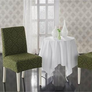 MILANO GREEN Чехлы на стулья со спинкой (2 шт.) зеленые