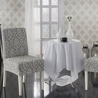 MILANO NATURAL Чехлы на стулья со спинкой (2 шт.) крем-графит