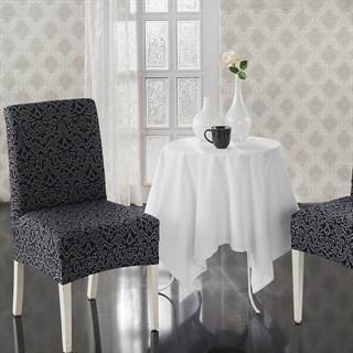 MILANO ANTHRACITE Чехлы на стулья со спинкой (2 шт.) темно-серые