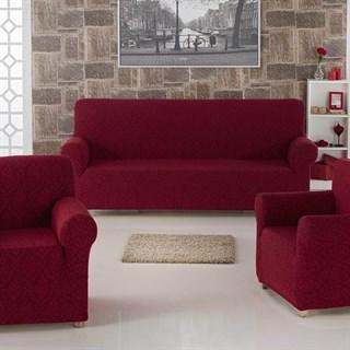 MILANO BORDO Комплект чехлов на диван и 2 кресла бордовый