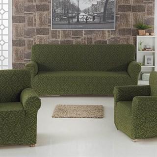 MILANO GREEN Комплект чехлов на диван и 2 кресла зеленый