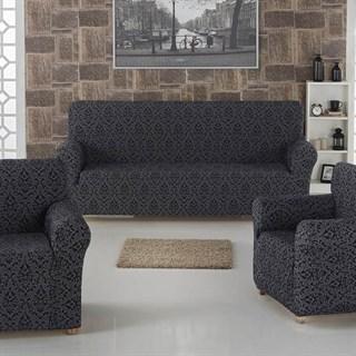 MILANO ANTHRACITE Комплект чехлов на диван и 2 кресла темно-серый