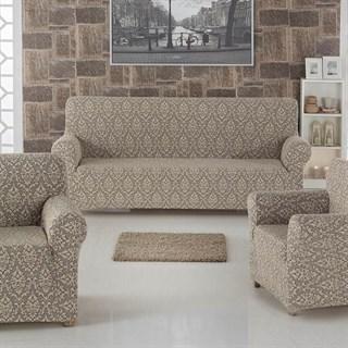 MILANO BEIGE Комплект чехлов на диван и 2 кресла бежевый