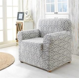 MILANO NATURAL Чехол для кресла от 70 до 110 см крем-графит