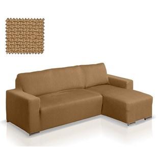АЛЯСКА БЕЖ Чехол на угловой диван с выступом справа