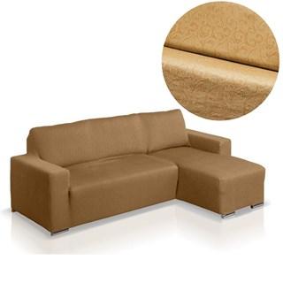 БОСТОН БЕЖ Чехол на угловой диван с выступом справа