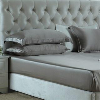 Шелковая простыня на резинке Luxe Dream Серебро 180х200