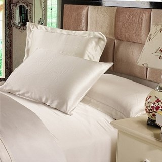 Шелковое постельное белье Luxe Dream Айвори семейное