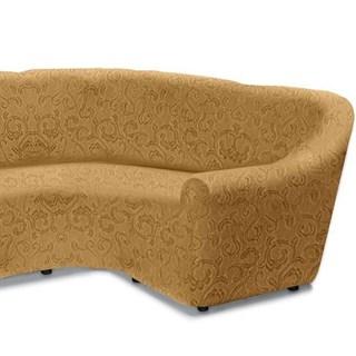 БОСТОН БЕЖ Чехол на классический угловой диван от 320 до 480 см правосторонний