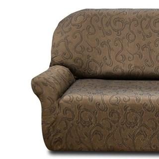 БОСТОН МАРОН Чехол на классический угловой диван от 320 до 480 см левосторонний