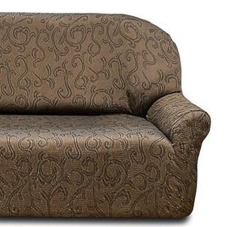 БОСТОН МАРОН Чехол на классический угловой диван от 320 до 480 см правосторонний