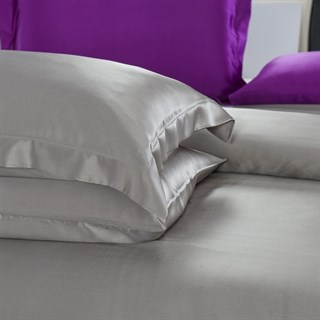 Шелковые наволочки Luxe Dream Серебро Oxford 50х70 (2 шт.)