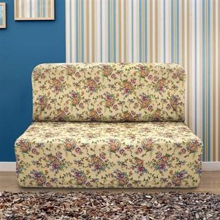 КРЕТОНА БЕЖ Чехол на диван без подлокотников от 160 до 210 см