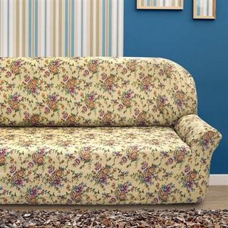 КРЕТОНА БЕЖ Чехол на 4-х местный диван от 230 до 270 см