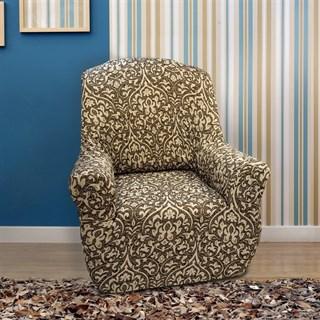 БОГЕМИЯ-М МАРОН Чехол на кресло от 70 до 110 см