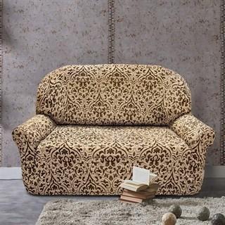БОГЕМИЯ-М БЕЖ Чехол на 2-х местный диван от 120 до 170 см