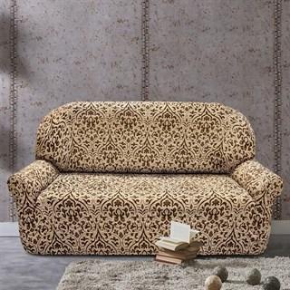 БОГЕМИЯ-М БЕЖ Чехол на 3-х местный диван от 170 до 230 см