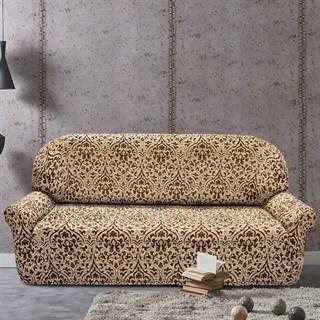 БОГЕМИЯ-М БЕЖ Чехол на 4-х местный диван от 230 до 270 см