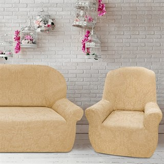 БОГЕМИЯ БЕЖ Комплект чехлов на диван и 2 кресла