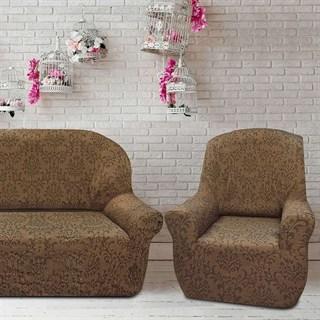 БОГЕМИЯ МАРОН Комплект чехлов на диван и 2 кресла