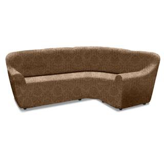 БОГЕМИЯ МАРОН Чехол на классический угловой диван от 370 до 500 см универсальный