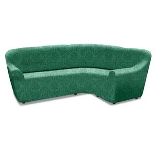 БОГЕМИЯ ВЕРДЕ Чехол на классический угловой диван от 370 до 500 см универсальный