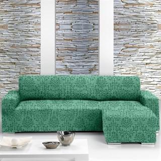 БОГЕМИЯ ВЕРДЕ Чехол на угловой диван с выступом справа
