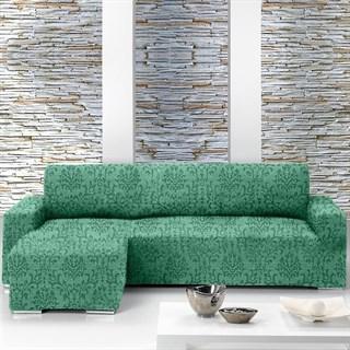 БОГЕМИЯ ВЕРДЕ Чехол на угловой диван с выступом слева