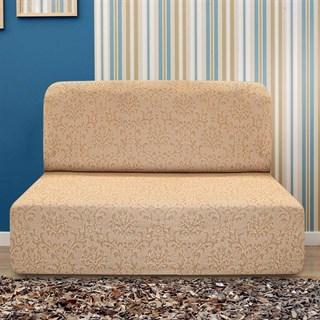 БОГЕМИЯ БЕЖ Чехол на диван без подлокотников от 160 до 210 см