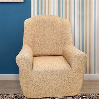 БОГЕМИЯ БЕЖ Чехол на кресло от 70 до 110 см
