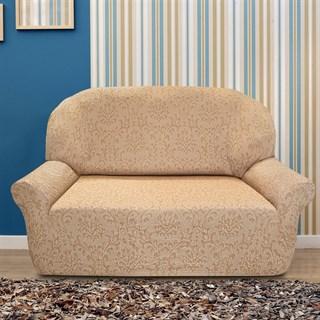 БОГЕМИЯ БЕЖ Чехол на 2-х местный диван от 120 до 170 см